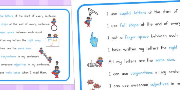 How to Make a Super Sentence Checklist - australia, super, sentence
