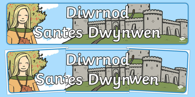 St Dwynwen's Day Display Banner Welsh - welsh, stori, santes dwynwen, saint dwynwen