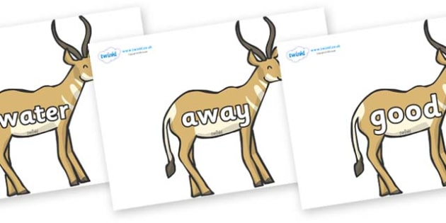 Next 200 Common Words on Antelopes - Next 200 Common Words on  - DfES Letters and Sounds, Letters and Sounds, Letters and sounds words, Common words, 200 common words