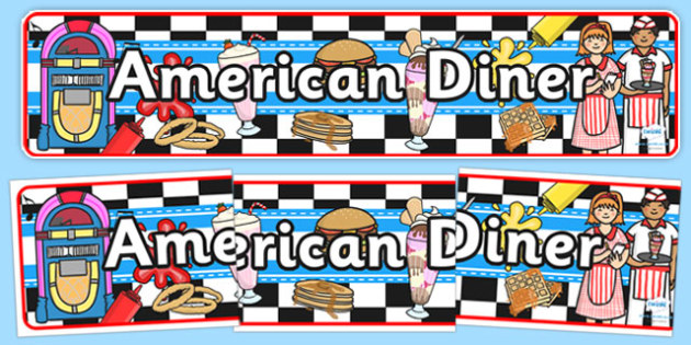 American Diner Role Play Banner-american diner, role play banner, diner, role play, banner, diner role play, america, food, caf