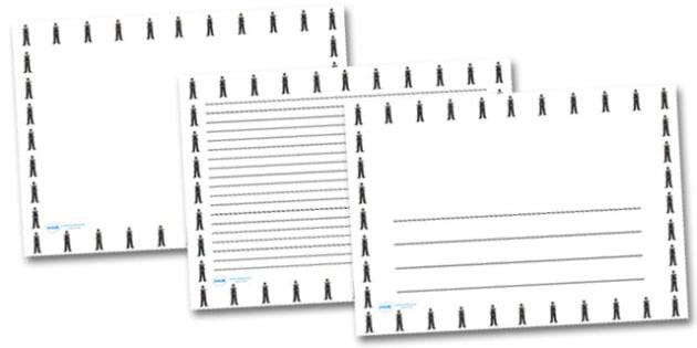 Policeman Landscape Page Borders- Landscape Page Borders - Page border, border, writing template, writing aid, writing frame, a4 border, template, templates, landscape
