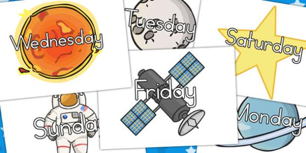 Space Days Of The Week (Australia) - weeks, visual, displays