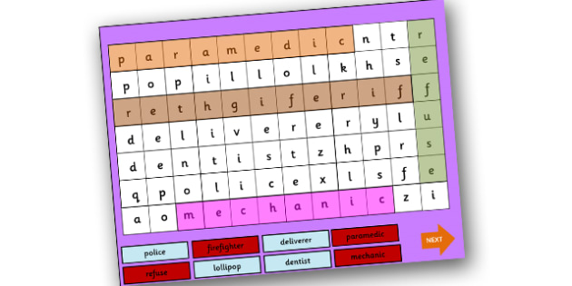 People Who Help Us Interactive Wordsearch PowerPoint-people who help us, interactive, interactive powerpoint, people who help us powerpoint, wordsearch