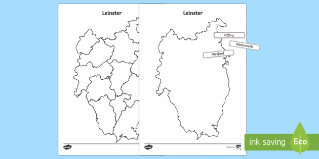 Build Ireland: Leinster Jigsaw Puzzle Activity Sheets-Irish