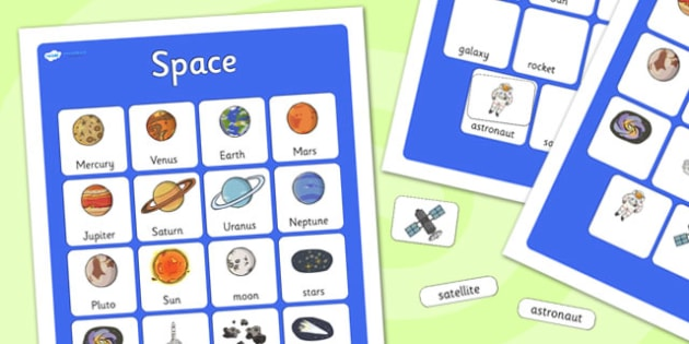 Space Vocabulary Poster - space, display posters, themed posters, images, pictures, key words, space vocabulary, vocabulary, vocab, space word mat