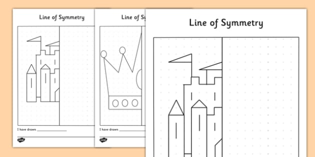 Crowns and Castles Symmetry Activity Sheets - symmetry, maths, worksheets