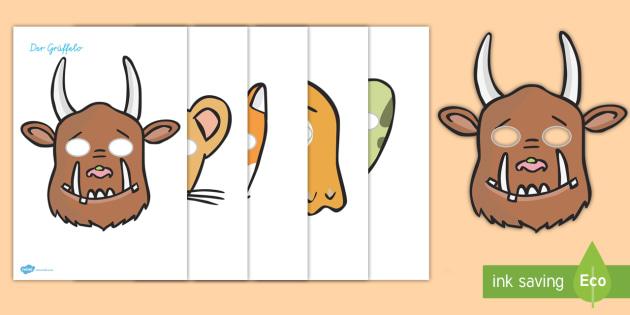 Rollenspielmasken für das Unterrichtsthema Der Grüffelo - Grüffelo, Rollenspiel, Masken, Australia