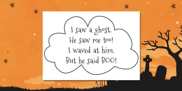 Ghost Poem - ghost, poem, boo, scary, halloween, display, words