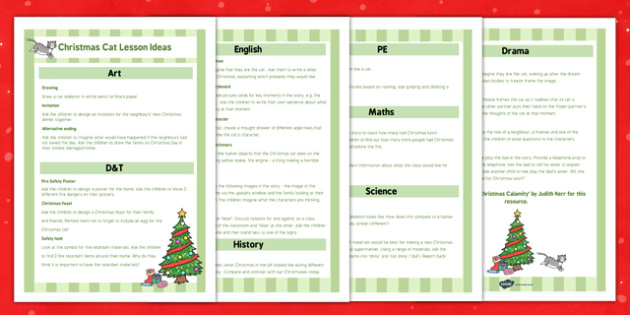 The Christmas Cat KS1 Lesson Ideas - mog, christmas cat, ks1, lesson, ideas