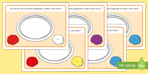 Mixing Colours Playdough Mats