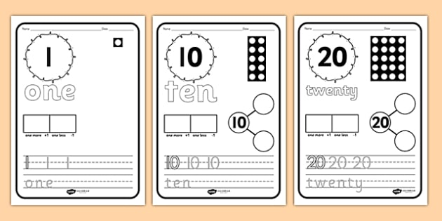 Number Writing Activity Sheets - number, writing, worksheets, maths