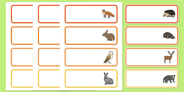 Editable Drawer - Peg - Name Labels (Woodland Animals) - Classroom Label Templates, Resource Labels, Name Labels, Editable Labels, Drawer Labels, Coat Peg Labels, Peg Label, KS1 Labels, Foundation Labels, Foundation Stage Labels, Teaching Labels