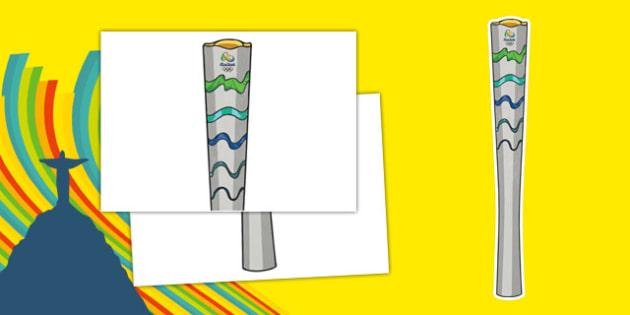 Olympic Display Torch - usa, america, olympics, 2016 olympics, rio 2016, rio olympics, display, torch