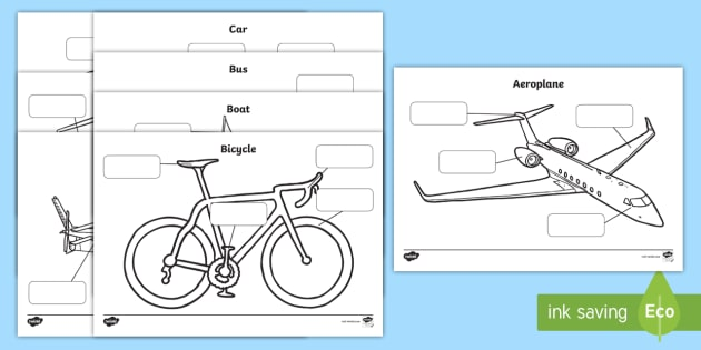 Transport Labelling Sheets - transport, car, lorry, motorbike, boat, parts, label, labelling, parts, bits, window, door, bumper