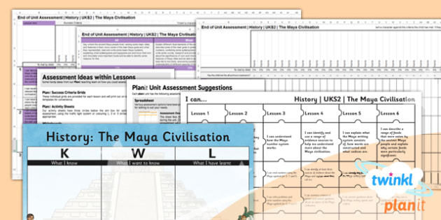 PlanIt - History UKS2 - The Maya Civilisation Unit Assessment Pack - assessment, record, data, baseline, nation, pack, objectives, criteria, success, national, curriculum, culture, different, south america