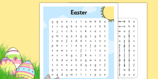 Easter Fair Word Search - easter fair, easter fayre, fair, fayre, easter, word search