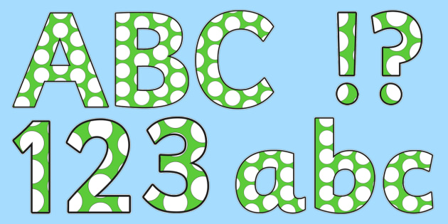 Green and White Spots Editable - green, white, spots, editable, display, lettering