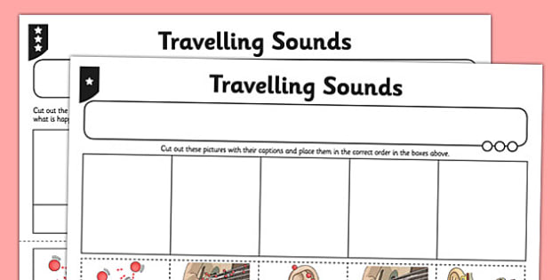 Travelling Sounds Activity Sheet - activity sheet, travelling sounds, sounds, worksheet
