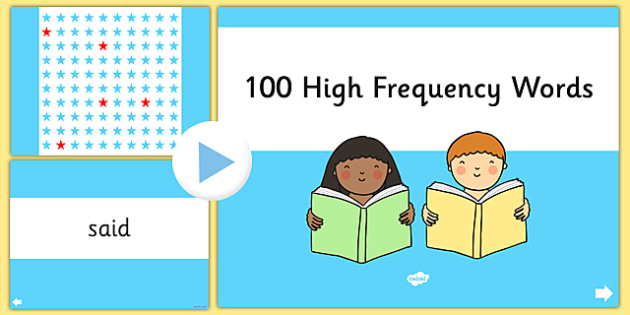 100 High Frequency Words Presentation - 100, high frequency