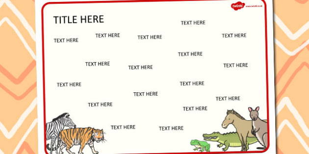 Animals Themed Editable Word Mat - literacy, words, writing, mats