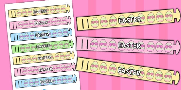 Easter Wristbands - easter wristbands, wrist, band, craft, easter
