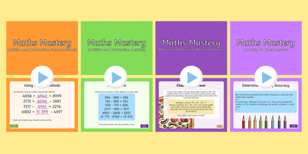Year 5 Addition and Subtraction Maths Mastery Activities Resource Pack