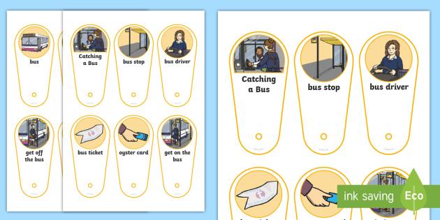Catching a Bus Communication Fan - bus ride visual support, catching a bus visual support, visual timetable