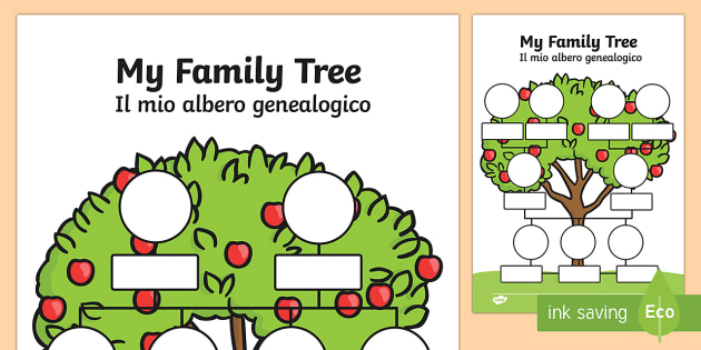 My Family Tree EnglishItalian My Family Tree Worksheets – Family Tree Worksheets