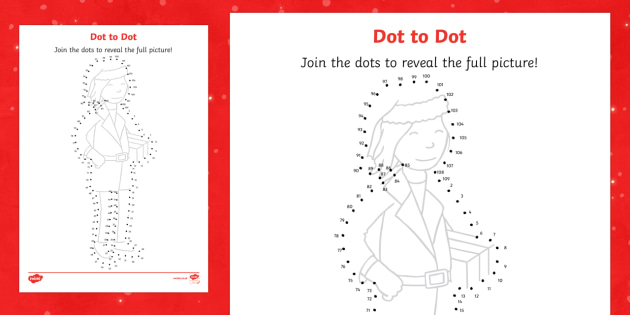 Mrs Claus Dot to Dot Activity Sheet - M&S Christmas, Marks, Spencers, Advert, Mrs Christmas, Mrs Claus, worksheet, Christmas