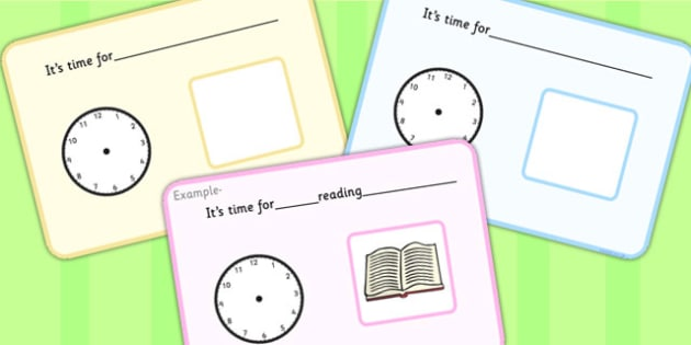 It's Time For... Visual Support Cards - learning support, SEN, card