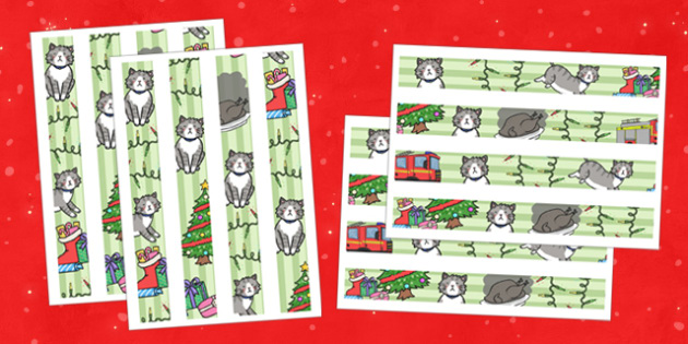Christmas Cat Themed Display Border - christmas cat, cat, christmas, themed, display border, display, border, mog