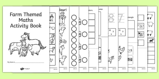 Farm Themed KS1 Maths Activity Book - maths activities, numeracy