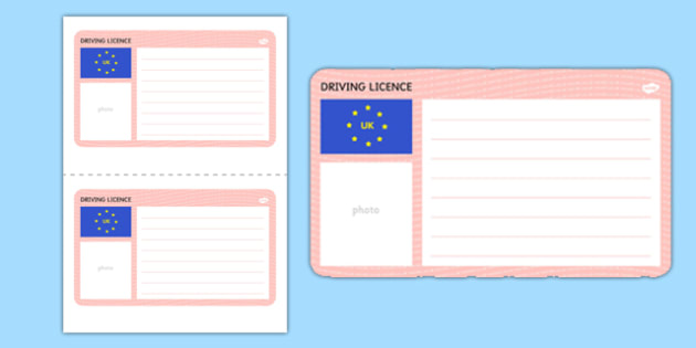 Blank Driving Licence Template - driving, cars, template, blank