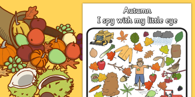 Autumn Themed I Spy With My Little Eye Activity - season, weather