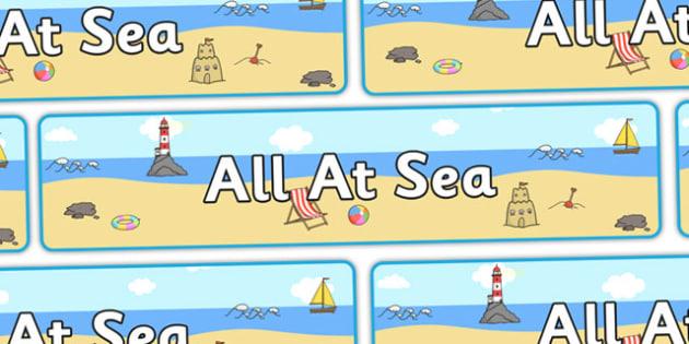 All At Sea' Display Banner - seaside, seaside banner, seaside display banner, all at sea banner, all at sea display banner, at sea banner, seaside display