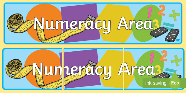 Numeracy Area Display Banner EYFS - numeracy, eyfs, banner
