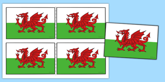 Welsh Handheld Flags - welsh, handheld flags, welsh flag, handheld, flag