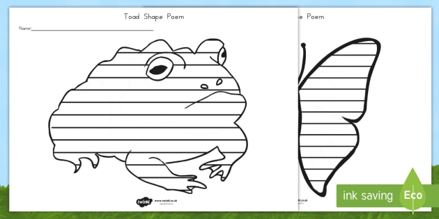 Minibeasts Shape Poetry - poems, poem, templates, minibeast