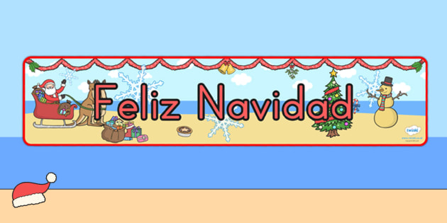 Australia Christmas Display Banner Spanish - christmas, banner, spanish