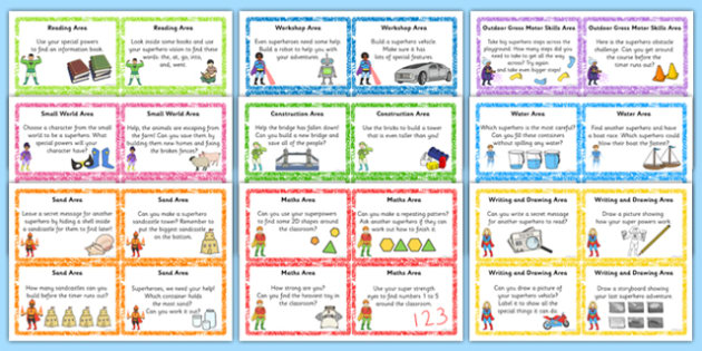 EYFS Superhero Themed Challenge Cards Resource Pack - eyfs, cards