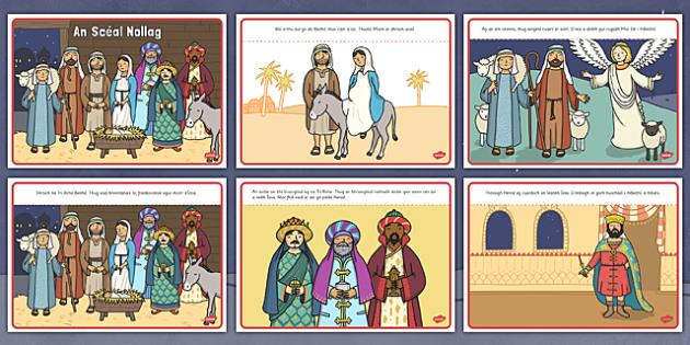 An Scéal Nollag Gaeilge - gaeilge, christmas story, christmas, story