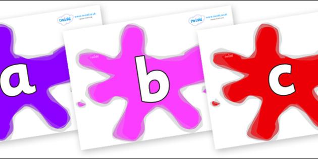 Phoneme Set on Splats - Phoneme set, phonemes, phoneme, Letters and Sounds, DfES, display, Phase 1, Phase 2, Phase 3, Phase 5, Foundation, Literacy