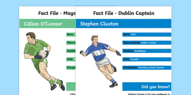 GAA All Ireland Championship Final: Captain's Fact File-Irish