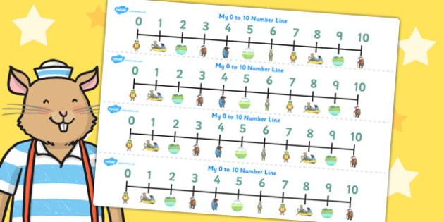 The Wind in the Willows Number Lines 0 10 - numeracy, numbers