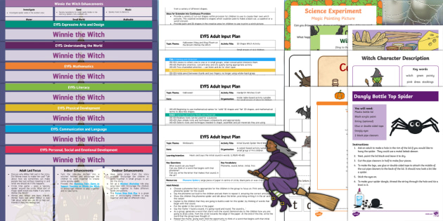 EYFS Lesson Plan Enhancement Ideas and Resources Pack to Support Teaching on Winnie the Witch - Early Years, continuous provision, early years planning, adult led, Helen Nicoll, witch, magic, Halloween