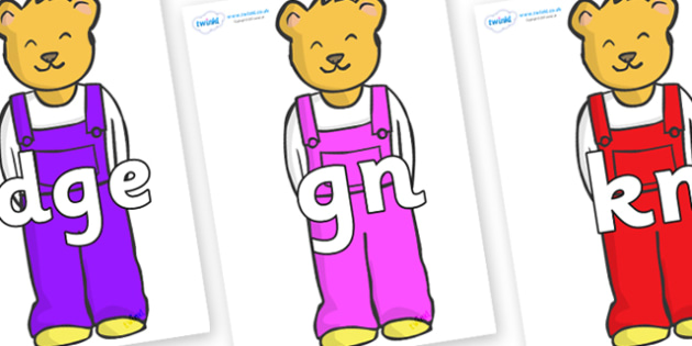 Silent Letters on Bears to Support Teaching on Whatever Next! - Silent Letters, silent letter, letter blend, consonant, consonants, digraph, trigraph, A-Z letters, literacy, alphabet, letters, alternative sounds