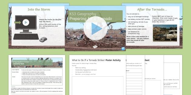Preparing for a Tornado Lesson Pack - Natural Hazards, tornado, primary, secondary, impacts, prepare, disaster, Moore, Oklahoma, Tornado A