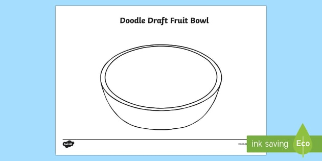 Doodle Draft Fruit Bowl Activity Sheet-Irish