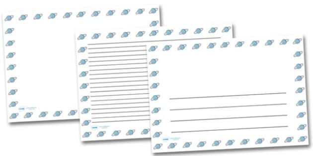 Uranus Landscape Page Borders- Landscape Page Borders - Page border, border, writing template, writing aid, writing frame, a4 border, template, templates, landscape