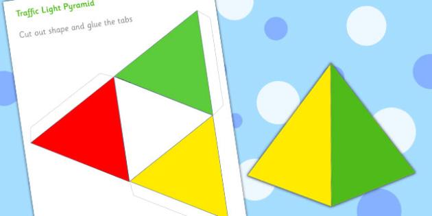 Traffic Light Pyramid - traffic light, pyramid, red, green, light